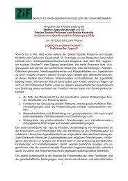 Zentrum für interdisziplinäre Forschung (ZiF) - Deutsche ...