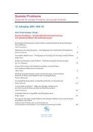 Vermeidbare Objektivismen – Überlegungen zu ... - Soziale Probleme