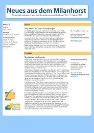 Newsletter aus dem Haus der Generationen und Kulturen / Nr. 11 ...