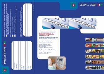 www.soziale-stadt.nrw.de ist eine gemeinsame Präsentation des ...