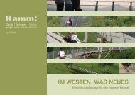 Entwicklungskonzept - Im Westen was Neues - Stadt Hamm