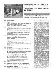 Fachtagung am 10. März 2005 - Soziale Stadt NRW