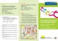 Gesundheitsförderung in der Sozialen Stadt - Soziale Stadt NRW