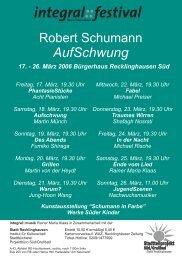 Flyer Schumann Feb. 2006 - Soziale Stadt NRW