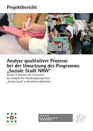 Projektbericht Analyse qualitativer Prozesse bei der ... - Difu.de