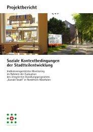 Soziale Kontextbedingungen der Stadtteilentwicklung' Langfassung