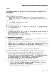 Bericht über die Aktiviäten des Zentrums - Zentrum für soziale und ...