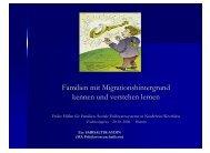 Familien mit Migrationshintergrund kennen und verstehen lernen