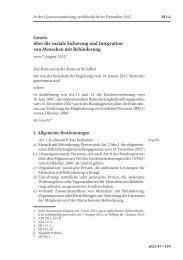 Gesetz über die soziale Sicherung und ... - Kanton St.Gallen