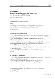Verordnung über die soziale Sicherung und ... - Amt für Soziales