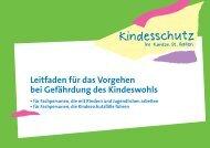 Leitfaden für das Vorgehen bei Gefährdung des Kindeswohls (391 ...