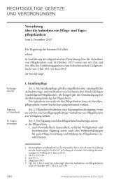 Kantonale Pflegekinderverordnung - Amt für Soziales