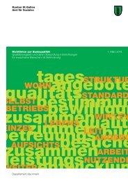 Richtlinien zur Basisqualität - Amt für Soziales - Kanton St.Gallen