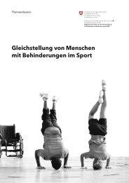 Gleichstellung von Menschen mit Behinderungen im Sport