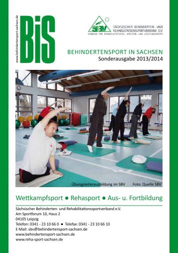 Wettkampfsport Rehasport Aus- u. Fortbildung - Verlag Volker ...