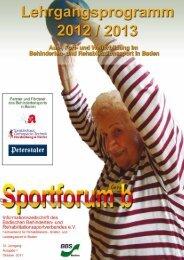 Fortbildungen Lizenzbereich Geistige Behinderung - HandicapSports
