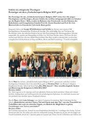 zur Siegerehrung 2013 - Sozialethik - Universität Bonn