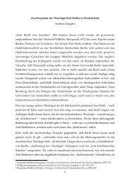 1 Zur Rezeption der Theologie Karl Barths in ... - Universität Bonn