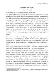 1 Christentum und Toleranz*) Andreas Pangritz I) Der Skandal um ...