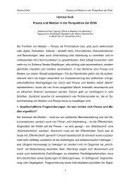 Presse und Medien in der Perspektive der Ethik - Universität Bonn