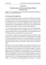 Time-lapse embryo monitoring und ... - Universität Bonn