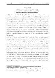 Nichtinvasive Untersuchung auf Trisomie 21 in ... - Universität Bonn