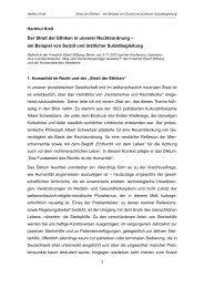 Der Streit der Ethiken in unserer Rechtsordnung ... - Universität Bonn