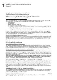 Merkblatt zum Unterstützungsbezug - Sozialhilfe