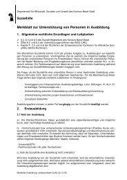 Merkblatt Ausbildung 22.12.09 - Sozialhilfe