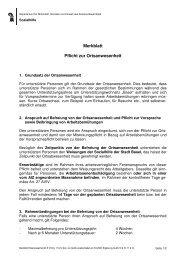 Merkblatt Pflicht zur Ortsanwesenheit - Sozialhilfe