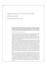menschen mit psychischen störungen - Sozialhilfe - Kanton Basel ...
