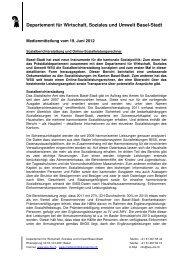 Departement für Wirtschaft, Soziales und Umwelt Basel-Stadt