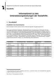 Info URL ab 1.7.2009 - Sozialhilfe - Basel-Stadt