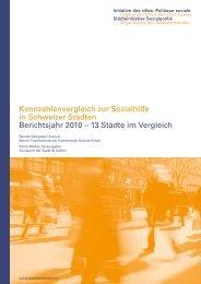 Kennzahlenbericht 2010 - SKOS