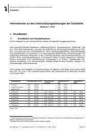 Informationen zu den Unterstützungsleistungen der Sozialhilfe