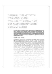 Netzwerk: partnerschaftliche Zusammenarbeit - Sozialhilfe