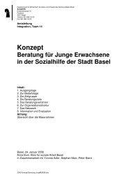 Junge Erwachsene - Sozialhilfe - Kanton Basel-Stadt