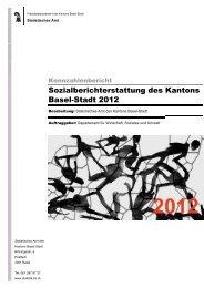 Sozialberichterstattung 2012 - Sozialhilfe - Kanton Basel-Stadt