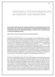 Rückkehrberatung - Sozialhilfe - Kanton Basel-Stadt