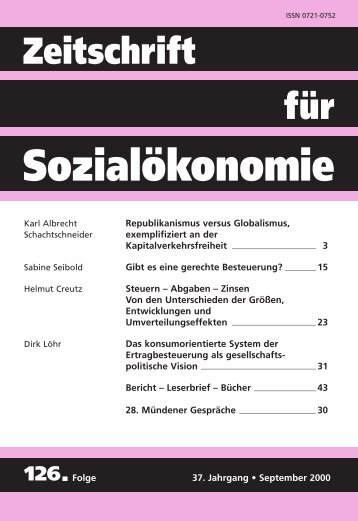 ZFSO¨ 126 - Basislayout - Zeitschrift für Sozialökonomie