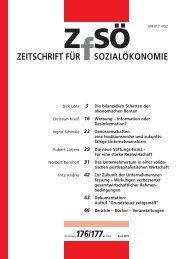 ZEITSCHRIFT FÜR SOZIALÖKONOMIE 176/177.
