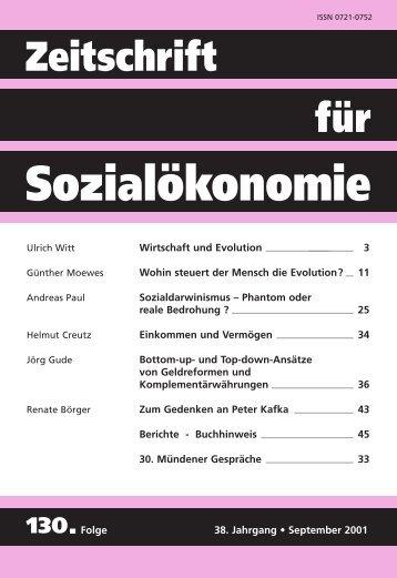 Sozialdarwinismus: Phantom oder reale Bedrohung? - Zeitschrift für ...