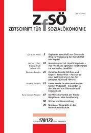 ZEITSCHRIFT FÜR SOZIALÖKONOMIE 178/179.