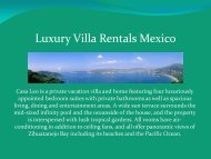 Luxury Villa Rentals Mexico