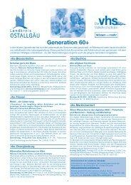 Generation 60+ - Sozialportal Ostallgäu