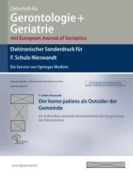 elektronischer Sonderdruck der Zeitschrift für Gerontologie + ...