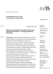 Pressemitteilung des Bezirks - Sozialportal Ostallgäu