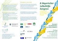 8. Bayerischer Selbsthilfe- kongress - Selbsthilfekoordination Bayern