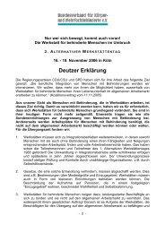 Deutzer Erklärung - bvkm.