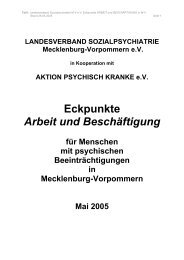 Eckpunkte Arbeit und Beschäftigung - Sozialpsychiatrie ...